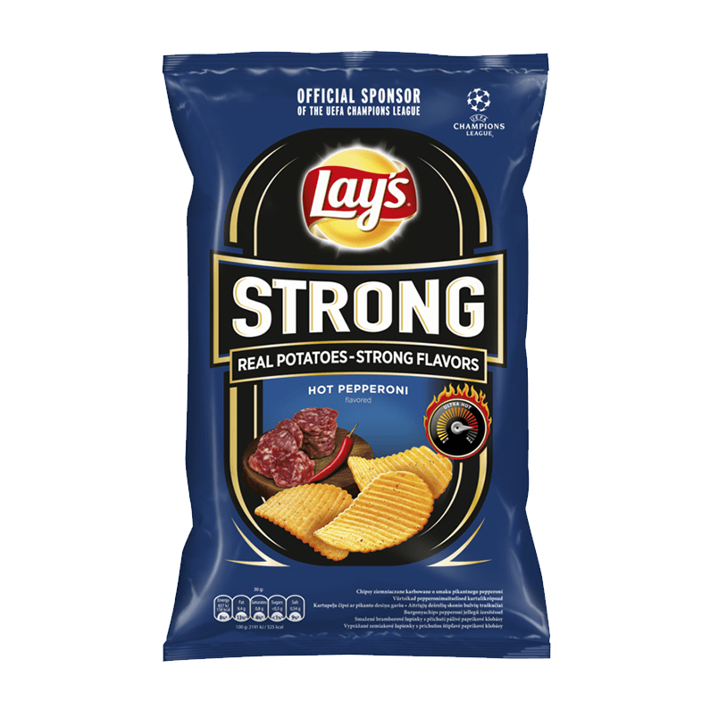 Lay's Strong Hot Pepperoni Flavoured Crink Cut Crisps